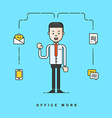 Businessman cartoon character Business concept for vector image