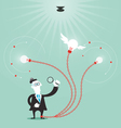 businessman create idea vector image vector image