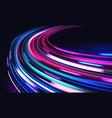 car motion trails speed light streaks vector image