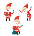 Cartoon Santa Claus isolated on white background vector image vector image