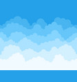 cartoon sky clouds background fluffy clouds in vector image