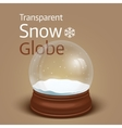 Christmas transparent snow globe vector image vector image