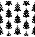 Christmas tree symbol seamless pattern vector image vector image