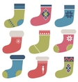 christmas winter colorful socks vector image
