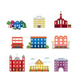 city urban buildings collection vector image vector image