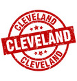 cleveland red round grunge stamp vector image vector image