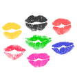 collection print of lips vector image vector image
