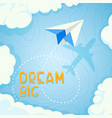 concept banner on theme travel airplane vector image vector image