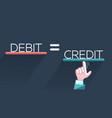 concept of fraud debit vector image