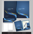 Corporate identity business set folder design vector | Price: 1 Credit (USD $1)