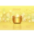 Cosmetic cream container template vector image vector image