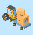 delivery and shipment service vector image vector image