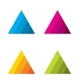 Design triangle logo element vector image