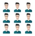 Facial Expression Man Icon Set