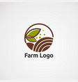 farm logo icon element and template for company vector image vector image