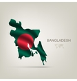 Flag of Bangladesh as a country vector image vector image