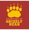 footprint grizzly bear vector image vector image