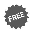 free sign icon simple vector image vector image