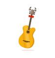 funny classical guitar musical instrument cartoon vector image