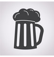 glass beer icon vector image