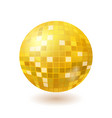 golden disco mirror ball isolated on white vector image