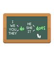 Green chalkboard school education class blank