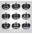 halloween carved pumpkins set eps10 vector image vector image