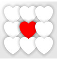 Heart applique background vector image
