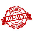 kosher stamp sign seal vector image vector image