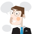 Man with Speech Bubbles vector image vector image