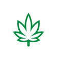 marijuana leaf logo icon graphic design template vector image
