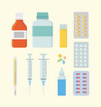 medicine health set collection with various shape vector image