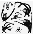 monsters cartoons set vector image vector image