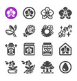 orchid icon set vector image vector image