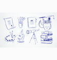 pen drawing education symbol objects vector image
