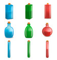 potion magic bottle mockup set realistic style vector image