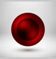 red abstract bubble badge vector image vector image