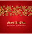 red merry christmas background vector image vector image
