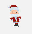santa claus with an expression of unpleasant vector image vector image