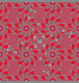 seamless floral pattern in flowers on pink gray vector image