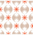 Seamless of geometric flowers and forms like wings vector image vector image