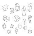 set crystals and gemstone vector image
