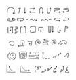 set doodle arrow vector image