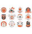 set of basketball club badge concept for vector image vector image