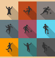 set of icons soccer players vector image