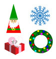 set of new years objects vector image