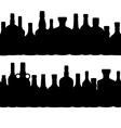 silhouette alcohol bottle seamless pattern