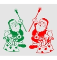 silhouette of Santa Claus with bag vector image vector image