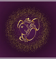 stylish golden lord ganesha design background vector image vector image