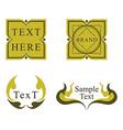 Thai label design vector image vector image